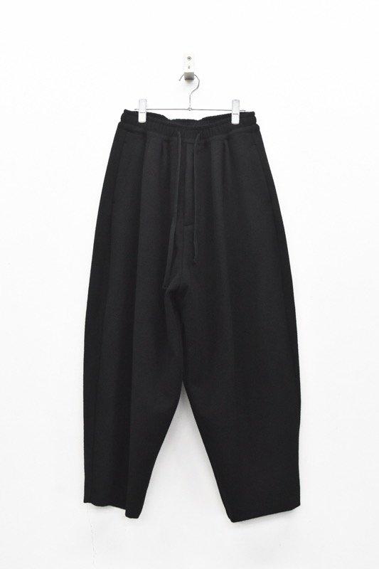 My Beautiful Landlet / SUPER 100's WOOL MOSSA EASY PANTS - BLACK