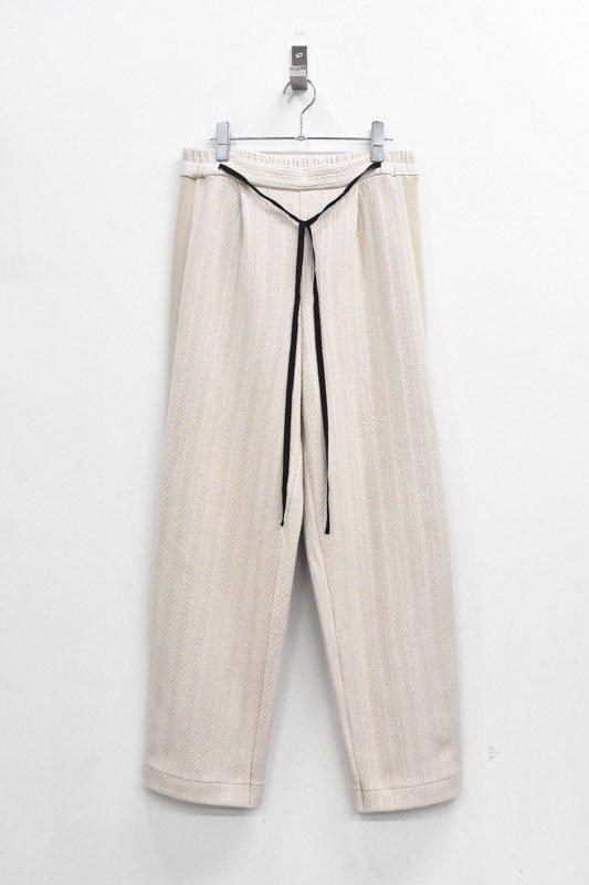 先行予約 YUKI SHIMANE / Side Line Sweat Pants - BEIGE