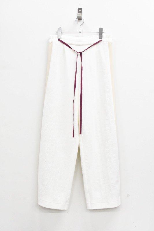 先行予約 YUKI SHIMANE / Side Line Sweat Pants - WHITE