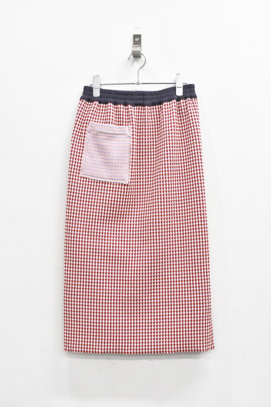 先行予約 YUKI SHIMANE / 2way Pencil Sweat Skirt - RED