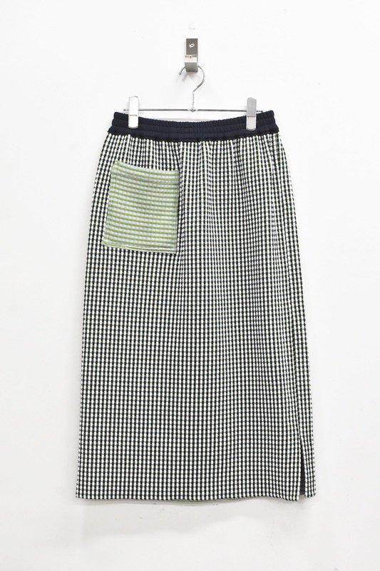 先行予約 YUKI SHIMANE / 2way Pencil Sweat Skirt - GREEN