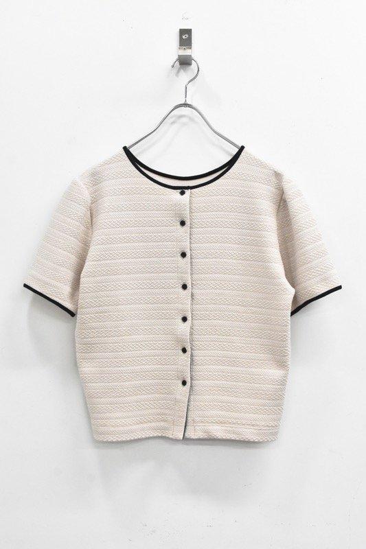 先行予約 YUKI SHIMANE / 2way Harf Sleeve Tshirt - BEIGE