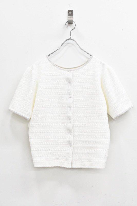 先行予約 YUKI SHIMANE / 2way Harf Sleeve Tshirt - WHITE