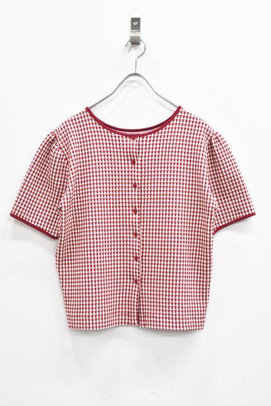 先行予約 YUKI SHIMANE / 2way Harf Sleeve Tshirt - RED