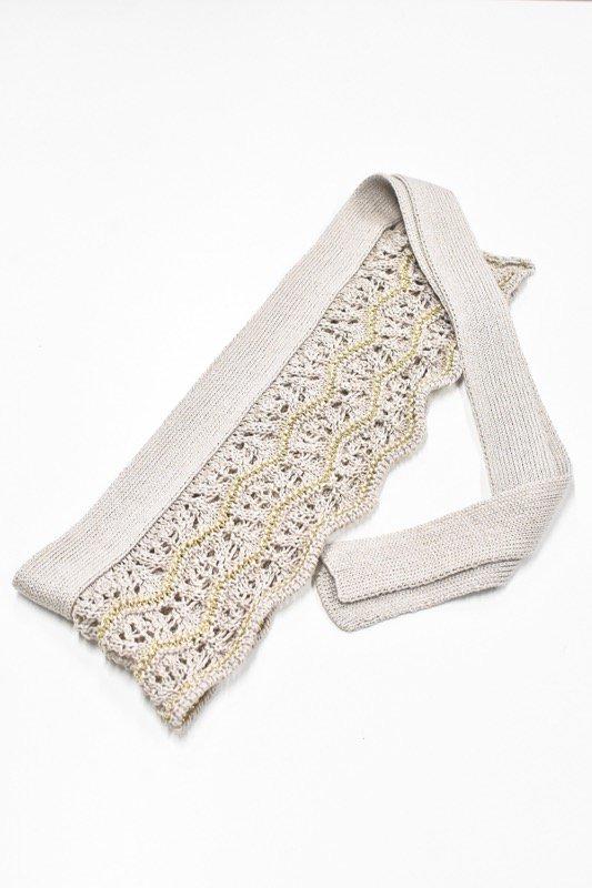 先行予約 YUKI SHIMANE / Waving Lace knit belt - GREY