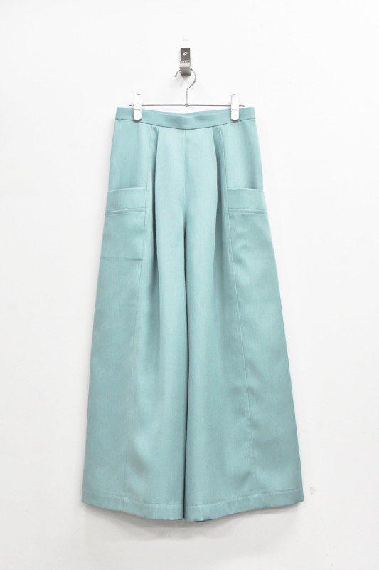 先行予約 YUKI SHIMANE / Bright Color pants - MINT