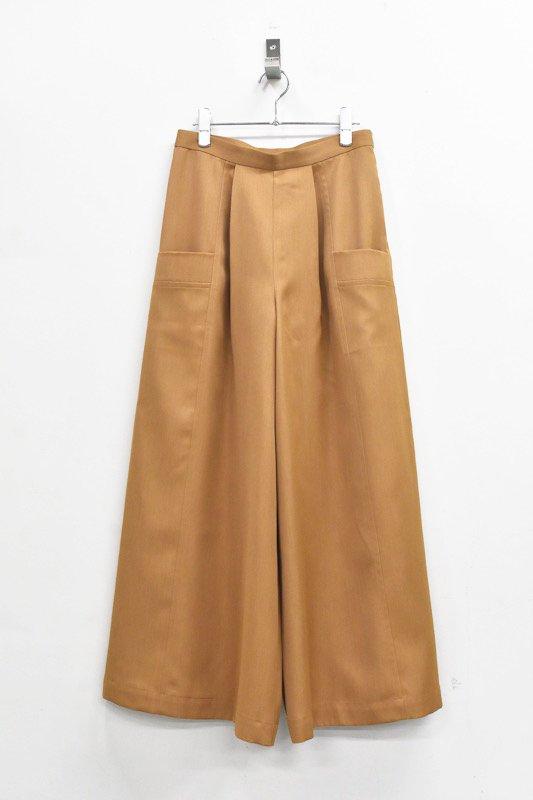 先行予約 YUKI SHIMANE / Bright Color pants - BROWN