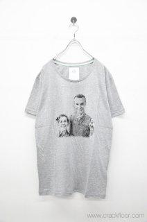 STOF E夫妻の肖像Tシャツ - GRAY