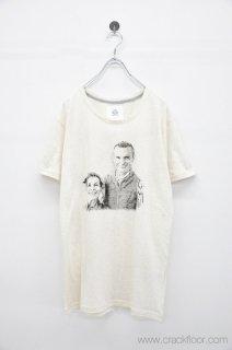 50%OFF STOF E夫妻の肖像Tシャツ - WHITE