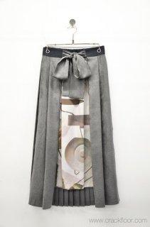 ohta grey pleats skirt