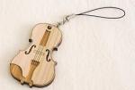 ひのきのストラップ ヴァイオリン
