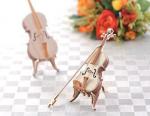 手のひらサイズの楽器 ひのきのヴァイオリン