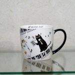 ミュージックキャット マグカップ ピアノ