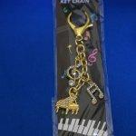ミュージックキーチェーン ピアノ(音符・ト音) ゴールド