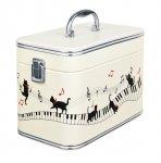 バニティケース ピアノと猫 ホワイト