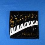 Piano line ポケットタオル 音符