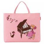 Piano line+ レッスンバッグ(黒猫と女の子)