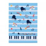 Piano line メモ帳 (スター)ブルー