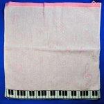 ジャガード織りピアノハンドタオル HT-50 ピンク