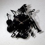 壁掛け時計 シルエットプラス 楽器