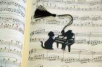 シルエットキャット ブックマーク ピアノ ブラック