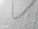 Silver925 アズキチェーンネックレス ロジウムコート(40・45・50cm)
