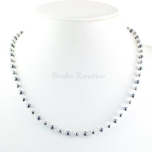 水晶 & テラヘルツ 磁気ネックレス Silver925マグネットクラスプ 女性 男性 ユニセックス 日本製 50cm