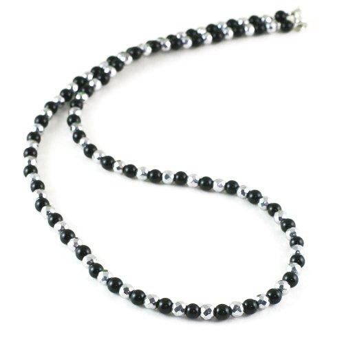 オニキス 天然石 磁気ネックレス Silver925マグネットクラスプ おしゃれ 女性 男性 ユニセックス