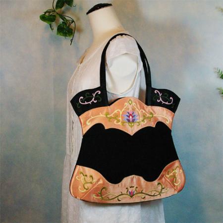 オリエンタル柄の刺繍バックo