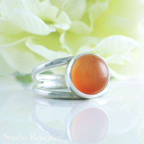天然石 カーネリアン シルバー リング silver 925 #12