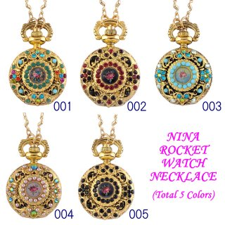 Michal Negrin - ウォッチネックレス/NINA ROCKET WATCH NECKLACE(全5色)【予約注文】