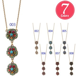 Michal Negrin - ネックレス / JADE 3 FLOWERS NECKLACE(全7色)【予約注文】