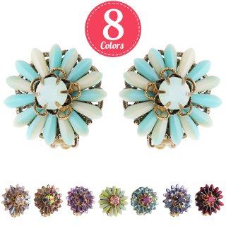 Michal Negrin - クリップイヤリング/FLORAL CLIP-ON EARRINGS(全8色)【予約注文】