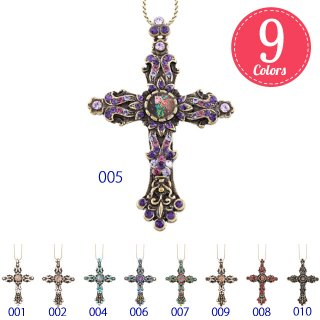 Michal Negrin - ネックレス / DECLICATE CROSS NECKLACE(全9色・クロス)【予約注文】