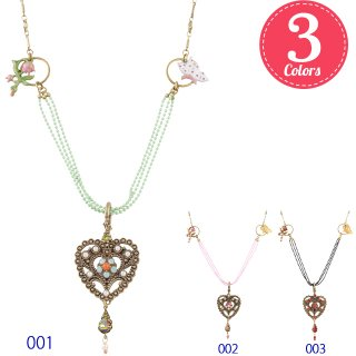 Michal Negrin - ネックレス / VICTORIAN HEART NECKLACE(全3色)【予約注文】