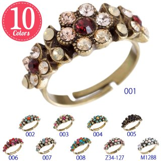 <img class='new_mark_img1' src='https://img.shop-pro.jp/img/new/icons5.gif' style='border:none;display:inline;margin:0px;padding:0px;width:auto;' />Michal Negrin - リング / ADELA RING(全10色)【予約注文】