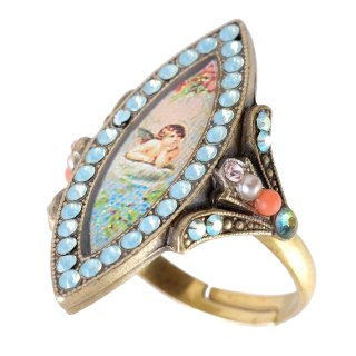 <img class='new_mark_img1' src='https://img.shop-pro.jp/img/new/icons5.gif' style='border:none;display:inline;margin:0px;padding:0px;width:auto;' />Michal Negrin - リング / STYLISH RING(エンジェル)【予約注文】