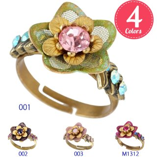 <img class='new_mark_img1' src='https://img.shop-pro.jp/img/new/icons5.gif' style='border:none;display:inline;margin:0px;padding:0px;width:auto;' />Michal Negrin - リング / MESH PETALS RING(全4色)【予約注文】