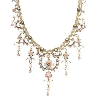 Michal Negrin - ネックレス/GORGEOUS DANGLING COLLAR NECKLACE(オーロラ:ホワイト×ピーチ)