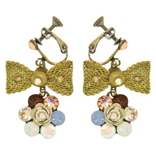 <img class='new_mark_img1' src='https://img.shop-pro.jp/img/new/icons5.gif' style='border:none;display:inline;margin:0px;padding:0px;width:auto;' />Michal Negrin - イヤリング・ピアス/RIBBON EARRINGS(シルキーセピア)