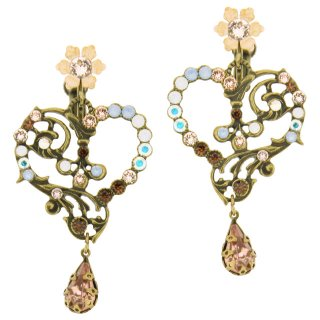 <img class='new_mark_img1' src='https://img.shop-pro.jp/img/new/icons5.gif' style='border:none;display:inline;margin:0px;padding:0px;width:auto;' />Michal Negrin - イヤリング・ピアス/OPEN HEART(シルキーセピア)