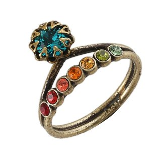 <img class='new_mark_img1' src='https://img.shop-pro.jp/img/new/icons5.gif' style='border:none;display:inline;margin:0px;padding:0px;width:auto;' />Michal Negrin - リング/SWAROVSKI CRYSTAL RING(マルチ)