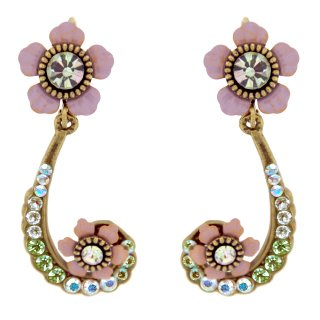 <img class='new_mark_img1' src='https://img.shop-pro.jp/img/new/icons5.gif' style='border:none;display:inline;margin:0px;padding:0px;width:auto;' />Michal Negrin - ピアス/SCROLL FLOWERS(スウィート・アイリス)