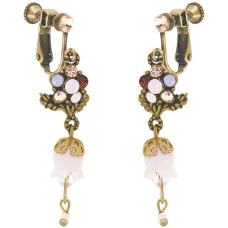 <img class='new_mark_img1' src='https://img.shop-pro.jp/img/new/icons5.gif' style='border:none;display:inline;margin:0px;padding:0px;width:auto;' />Michal Negrin - イヤリング・ピアス/フラワー×すずらん(シルキーセピア)
