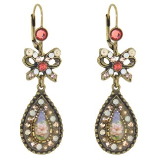 <img class='new_mark_img1' src='https://img.shop-pro.jp/img/new/icons5.gif' style='border:none;display:inline;margin:0px;padding:0px;width:auto;' />Michal Negrin - イヤリング・ピアス / リボン×ピクチャー(コーラル・サンセット)