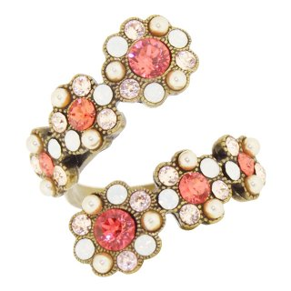 <img class='new_mark_img1' src='https://img.shop-pro.jp/img/new/icons5.gif' style='border:none;display:inline;margin:0px;padding:0px;width:auto;' />Michal Negrin - リング / FLOWERS SPIRAL RING(コーラル・サンセット)