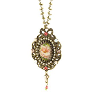 <img class='new_mark_img1' src='https://img.shop-pro.jp/img/new/icons5.gif' style='border:none;display:inline;margin:0px;padding:0px;width:auto;' />Michal Negrin - ネックレス / GOTHIC CAMEO NECKLACE(コーラル・サンセット)