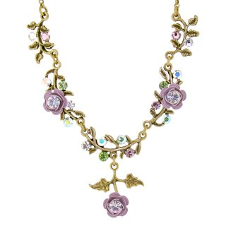 <img class='new_mark_img1' src='https://img.shop-pro.jp/img/new/icons5.gif' style='border:none;display:inline;margin:0px;padding:0px;width:auto;' />Michal Negrin - ネックレス / Y字ライン・ローズ(スウィート・アイリス)
