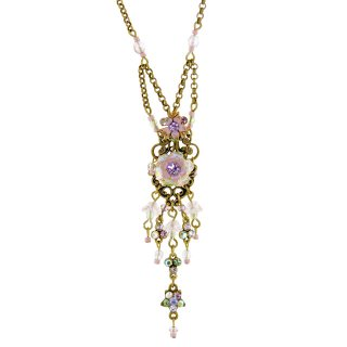 <img class='new_mark_img1' src='https://img.shop-pro.jp/img/new/icons5.gif' style='border:none;display:inline;margin:0px;padding:0px;width:auto;' />Michal Negrin - ネックレス/フラワー×スター(スウィート・アイリス)