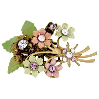 Michal Negrin - ブローチ/BOUQUET BROOCH(ピンク×グリーン)